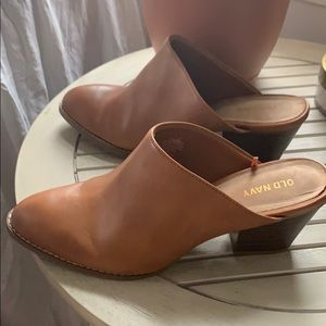Brown Old Navy Clogs